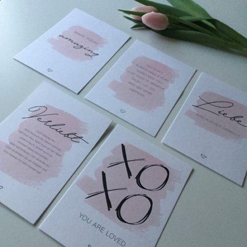 Postkartenset Cotton: Liebe & Leben